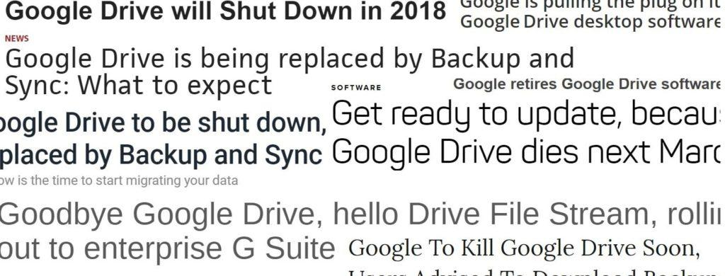 google drive shutting down