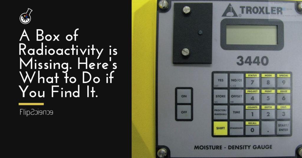 radioactivity, moisture density gauge
