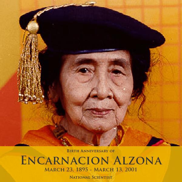 national scientist, encarnacion alzona