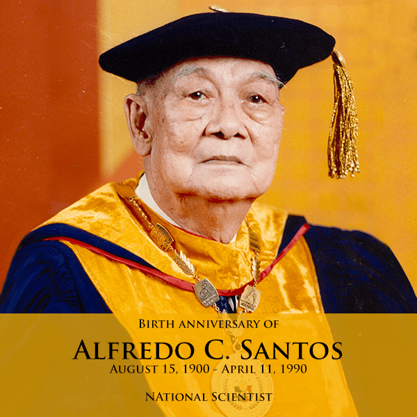national scientist, alfredo c. santos